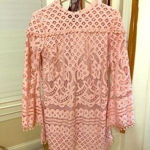 SHEIN Dresses - Pink dress with pom pom detailing